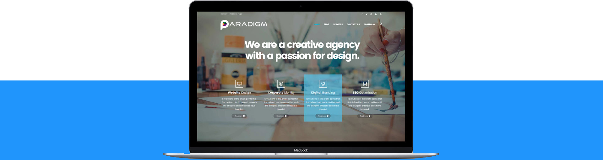 a creative agency with a passion for design